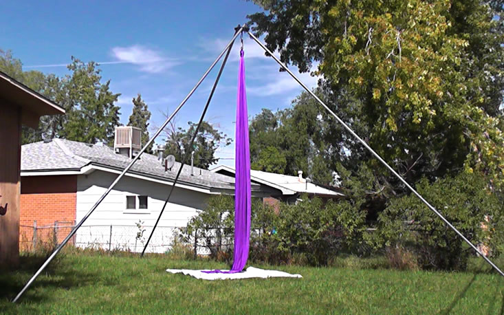 Suspendulum Rig in Boulder Backyard